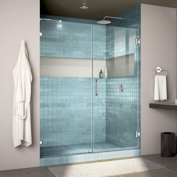 Dreamline Unidoor Lux 59 x 72 Hinged Frameless Shower Door with Clearmax Technology