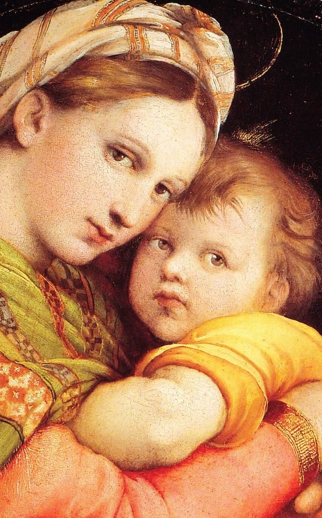 """#artninja """"@RosamariaNoia: grazie @mamogiack e dolcissimo #Raffaello nella """"Madonna della Seggiola"""" """""""