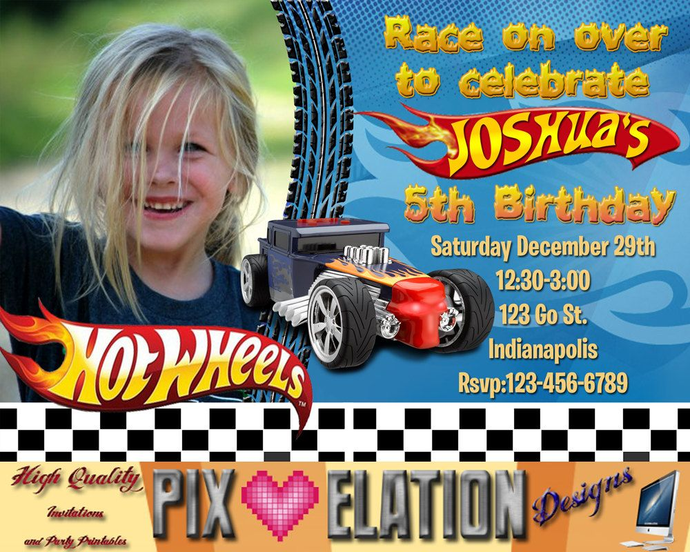 Nice Hot Wheels Birthday Invitations Free Printable Invitation