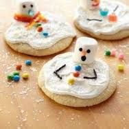 Do you want to be a snowman,Well Yea...With the marshmallow topped with many accessories with a frosted cookie...Like SNOW