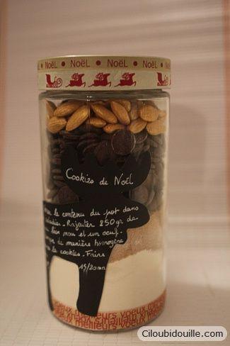 offrir des cookies en bocaux super cadeau gourmand recette noel. Black Bedroom Furniture Sets. Home Design Ideas