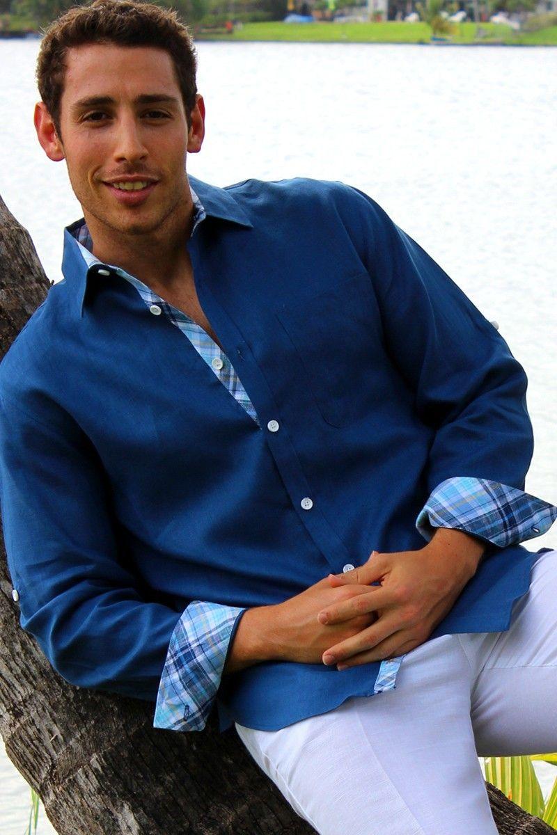 Men's Linen Shirt, Guayabera shirt, Men's linen pants, men's Linen ...