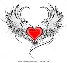 Heart With Death Wings Tattoo Google Search Tattoos Pinterest