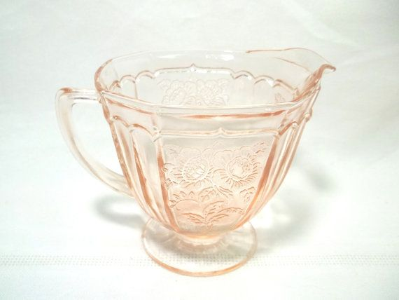 Hocking Glass Mayfair Open Rose Pink Depression by LakesideHaven, $25.00 20% off use coupon code ChristmasInJuly