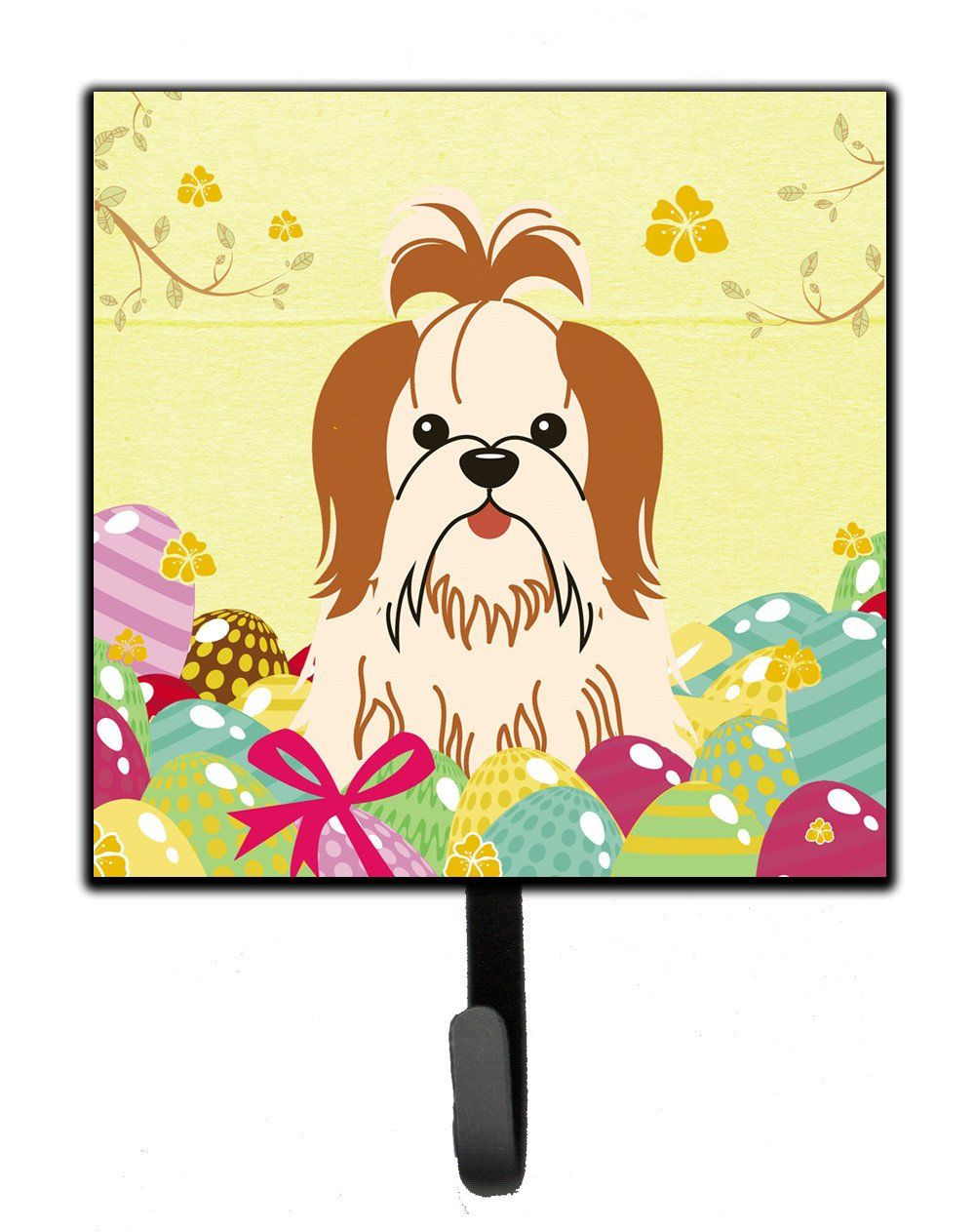 Easter Eggs Shih Tzu Red White Leash or Key Holder BB6087SH4   Products