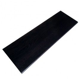 Best Red Oak Ebony Retro Stair Tread Closed 36 In Stair 400 x 300