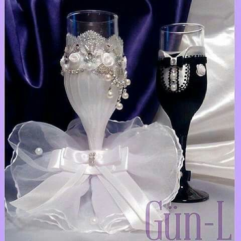 Belleza Wedding Glasses Wedding Paper Flowers
