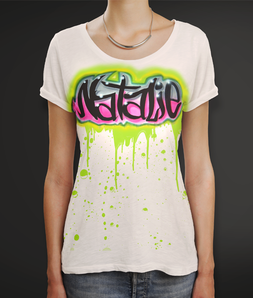 ee45292c4 Drippy Droppy Green Slime Airbrush T-Shirt -- $29.99 Fashion #Airbrush # Clothes #SprayTees