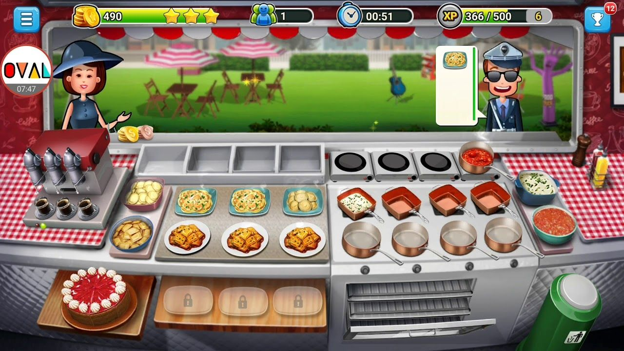Cuisine Gameplay Food Truck Chef Level 5 To 10 Pasta Street Oval Pegi 3 Genre