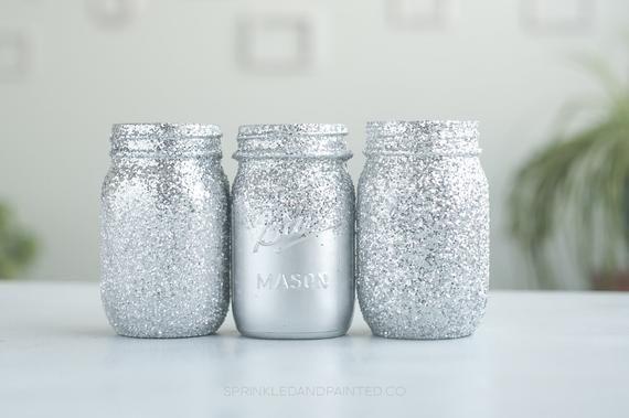 Mason Jar Vanity Organization