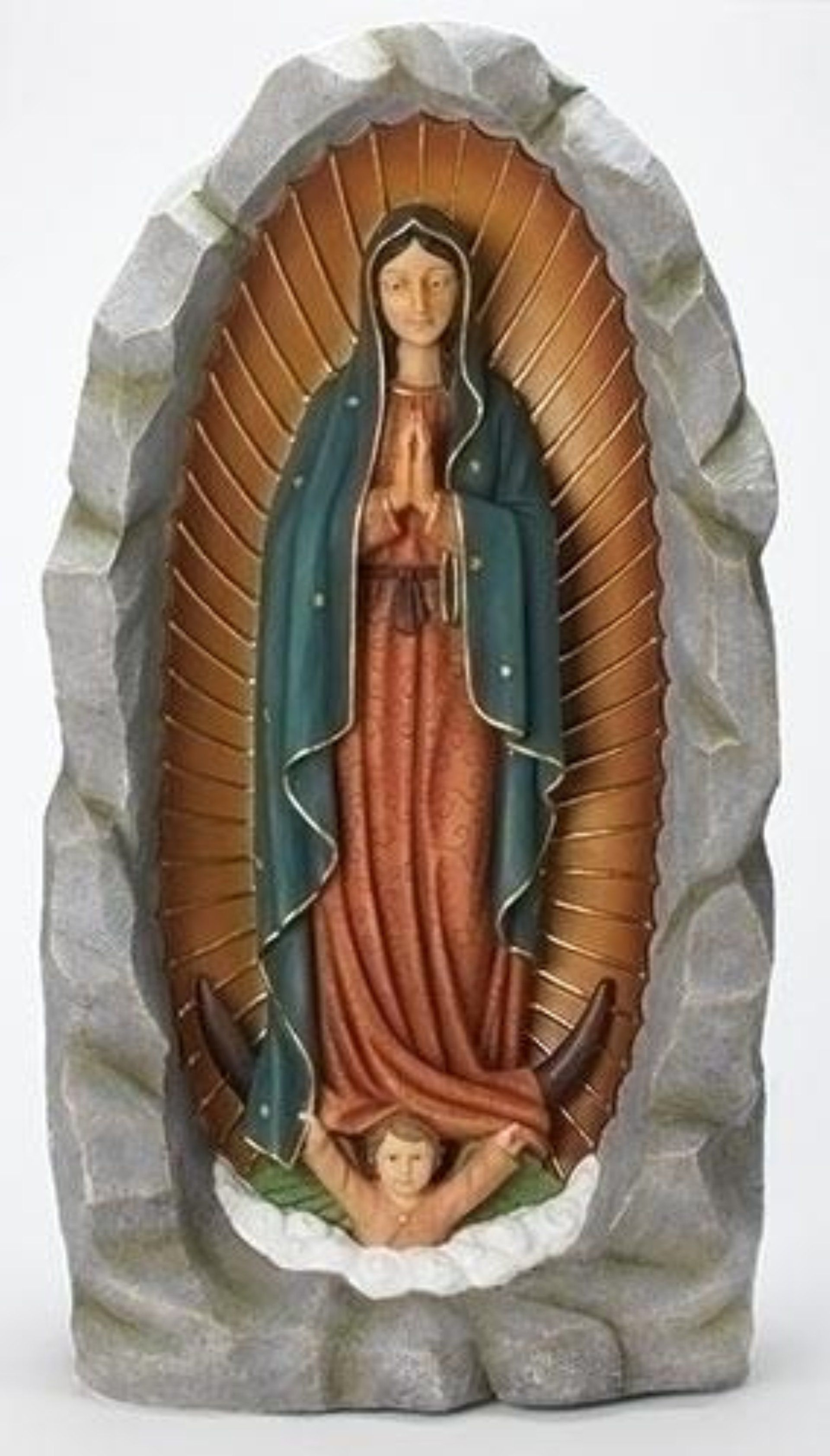 Our Lady Of Guadalupe Grotto Statue Extra Large 36 Inch