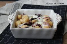 Gnocchetti+gratinati+al+forno+con+radicchio+e+crescenza