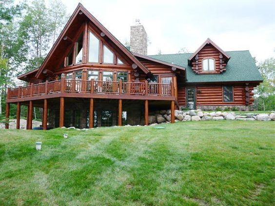 Image result for prow front log homes log home exterior for Prow front house plans