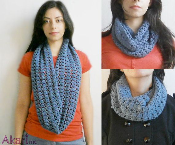 Patrón de crochet bufanda circular calada. Patrón de por AKARImc ...