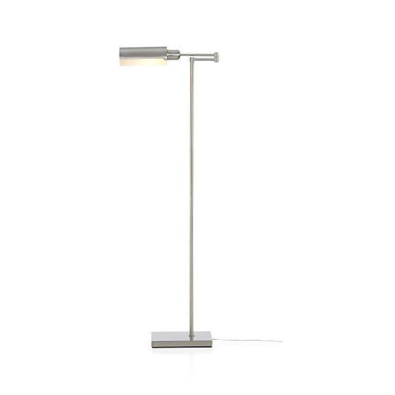 Wagner Nickel Pharmacy Floor Lamp | Crate And Barrel