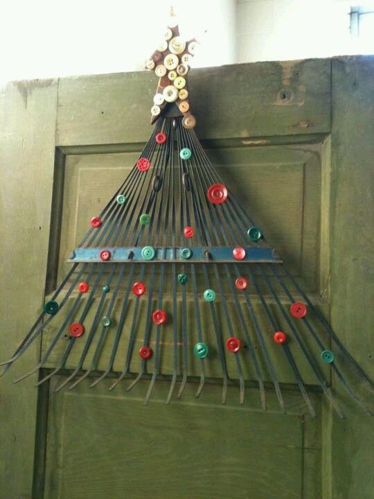 Rake Christmas Door Decor Christmas Decors Pinterest Doors
