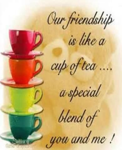 Our Friendship Is Like A Cup Of Tea .... A Special Blend Of You And Me!