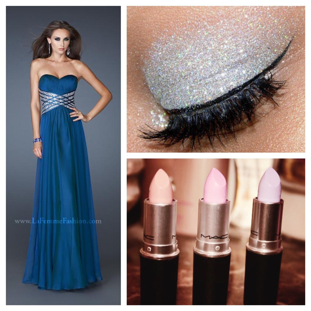 What make up should you use with an aqua blue dress?