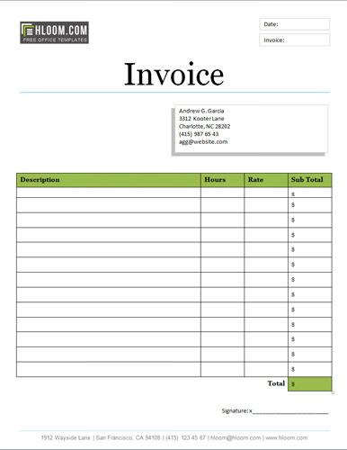Artistic invoice design Free Invoice Template Online Pinterest
