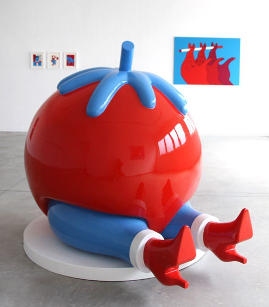 Alice Gallery - 'Give Up', fiberglass sculpture by Parra