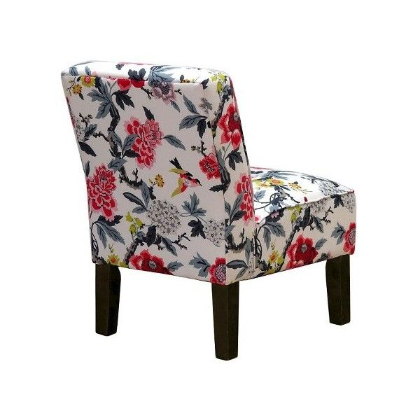 Burke Accent Print Slipper Chair 112 Liked On Polyvore