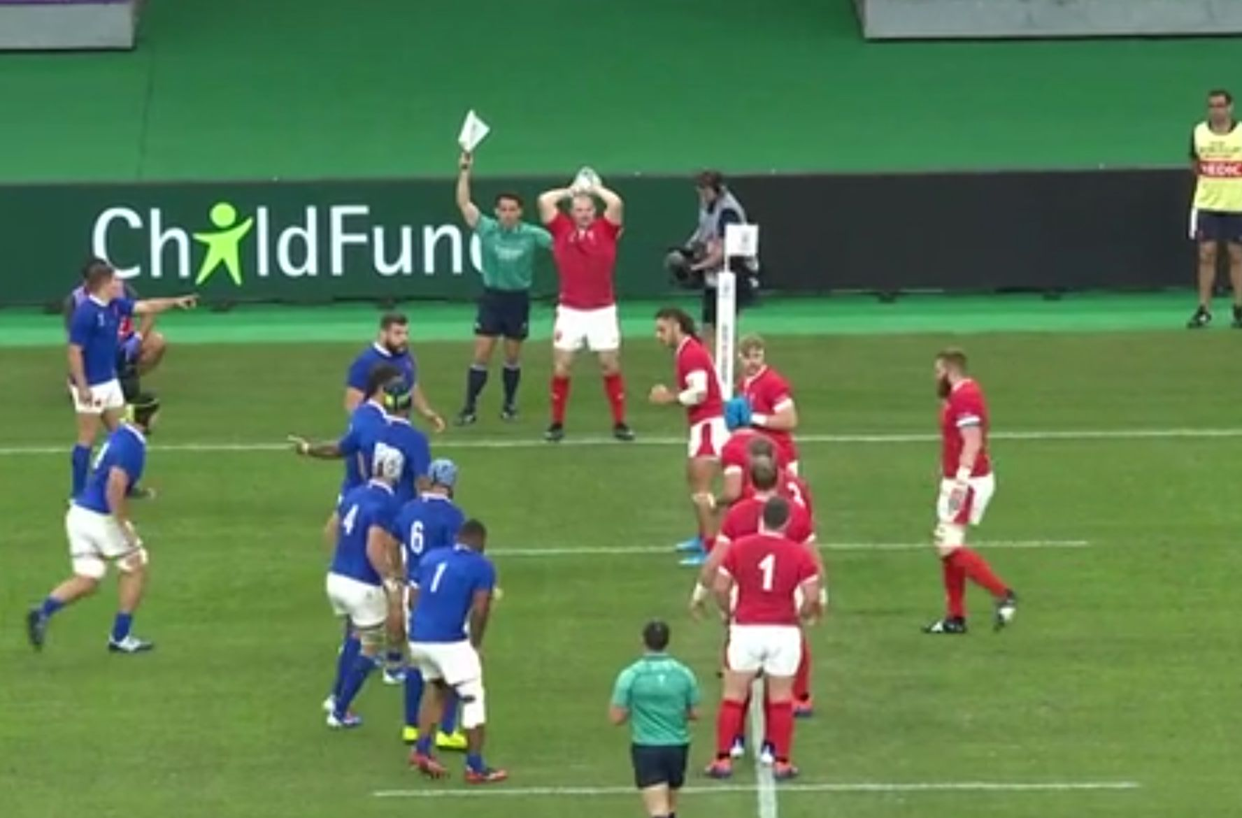 Wales v France Line Out at Rugby World Cup 2019 Wales