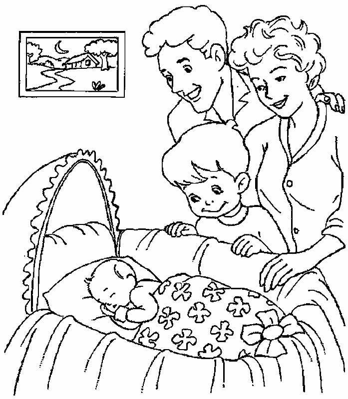 Raskraska Semya15 Jpg 697 800 Baby Coloring Pages Family Coloring Pages Birthday Coloring Pages