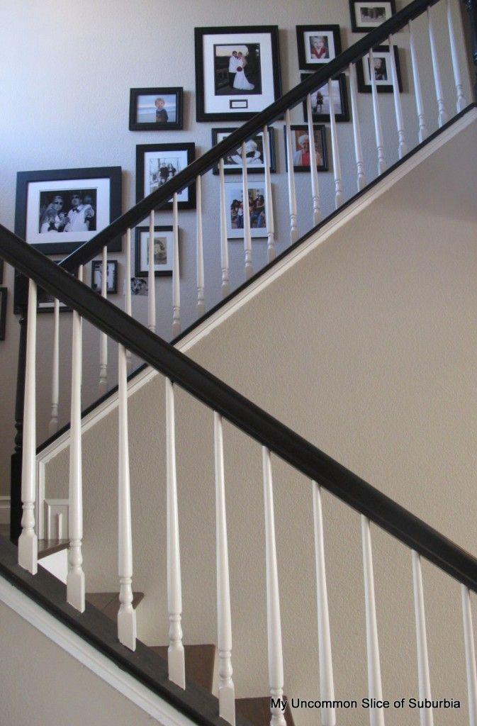 Painted Stair Rails Painted Stairs Painted Staircases Diy Staircase