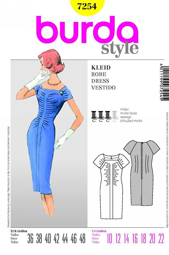 50s Inspired Sheath Dress Sewing Pattern