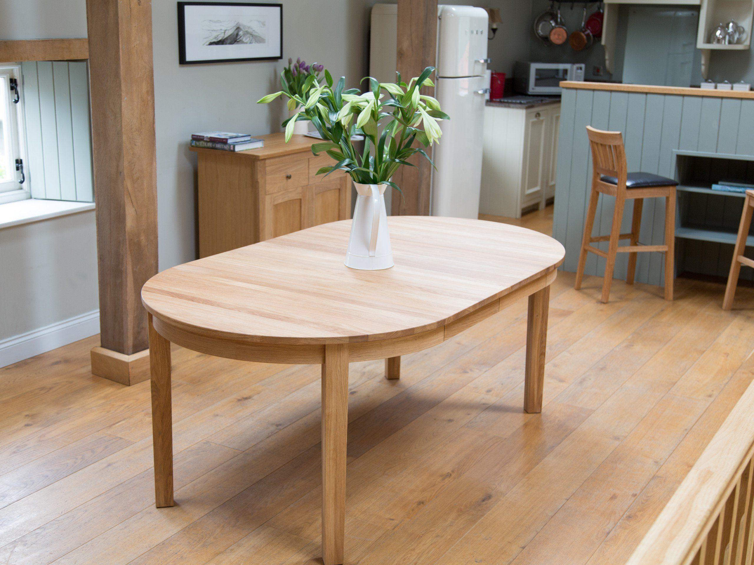 Baltic Premium Eu Made Solid Oak Round Double Extending Table