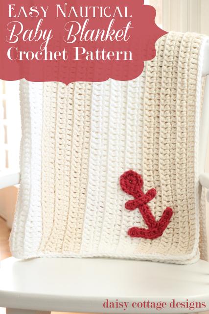 Easy Anchors Away Crochet Pattern | Cobija, Tejido y Para niños