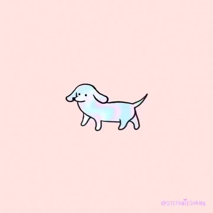 Sausage Dog Animation by @stefanieshank