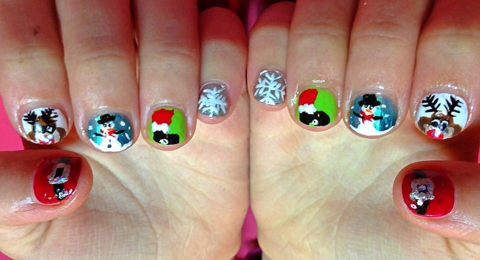 Christmas nails, child nails, Christmas NailArt, Christmas nail art ...