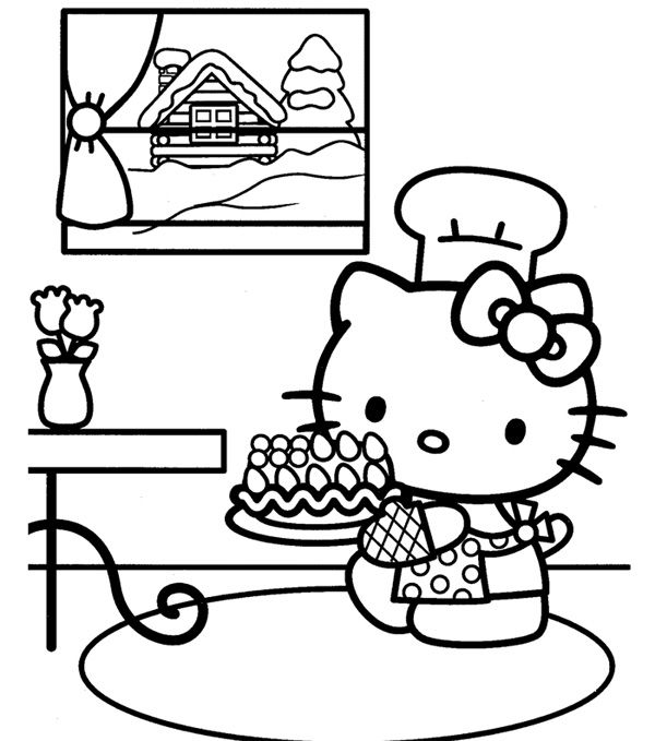 Top 30 Hello Kitty Coloring Pages To Print    freecoloring-pages - best of coloring pages hello kitty birthday