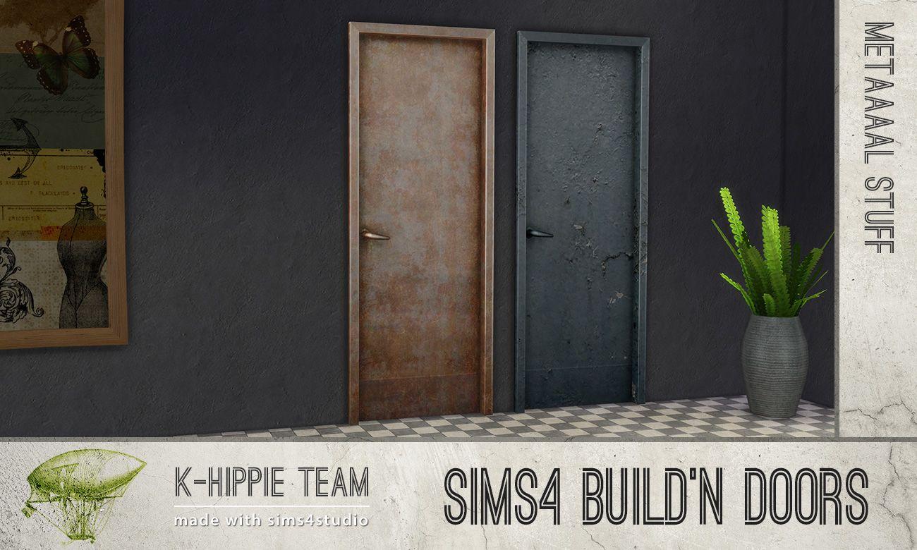 Mod The Sims Metal Door recolors x12 Build'n Doors