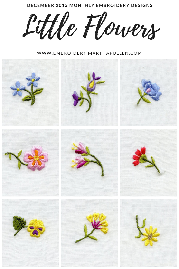 Embroider a beautiful garden of little flowers with our December ...