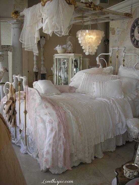 Lovely pink decor via pinterest. Romantic Vintage Bedroom Bedroom Home Vintage Romantic Decorate Shabby Chic Bedrooms Shabby Bedroom Shabby Chic Decor