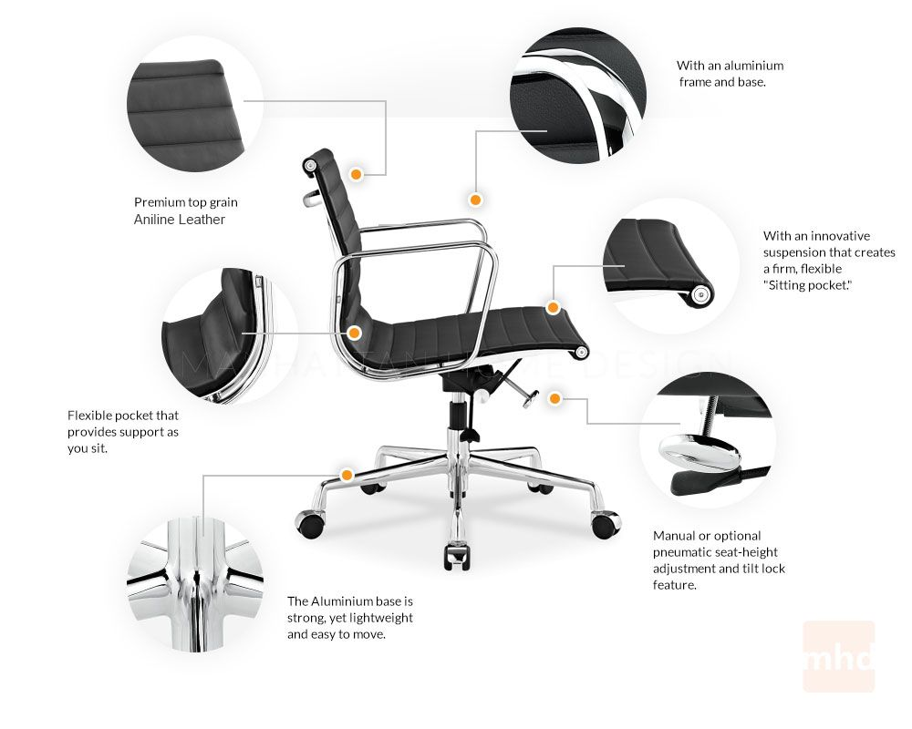 eames office chair replica. Eames Management Chair Replica - Style Features Office