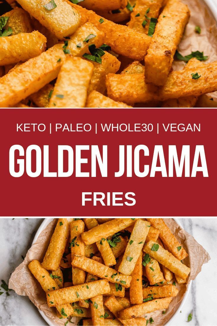 Golden Jicama Fries Recipe Keto Side Dishes Low Carb Side Dishes Healthy Recipes