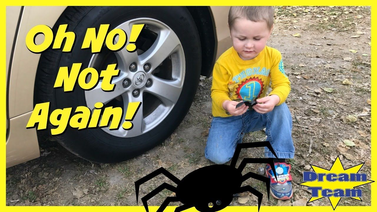 CARELESS MOM Crushes Toy Spider Under Car Prank Spider IRL