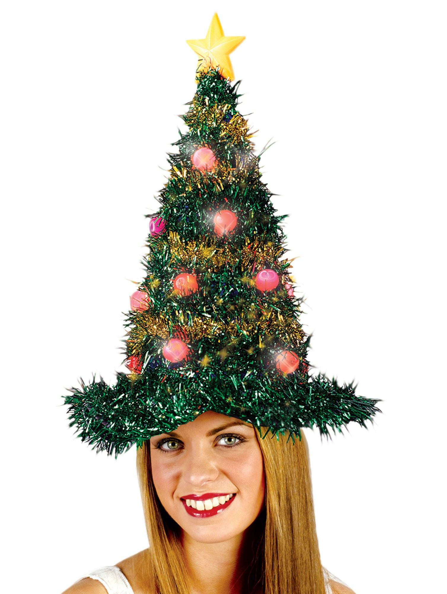 Patriotic Christmas Tree Light Up Christmas Tree Hat Christmas Christmas Tree Hat Tinsel Christmas Tree Funny Christmas Hats