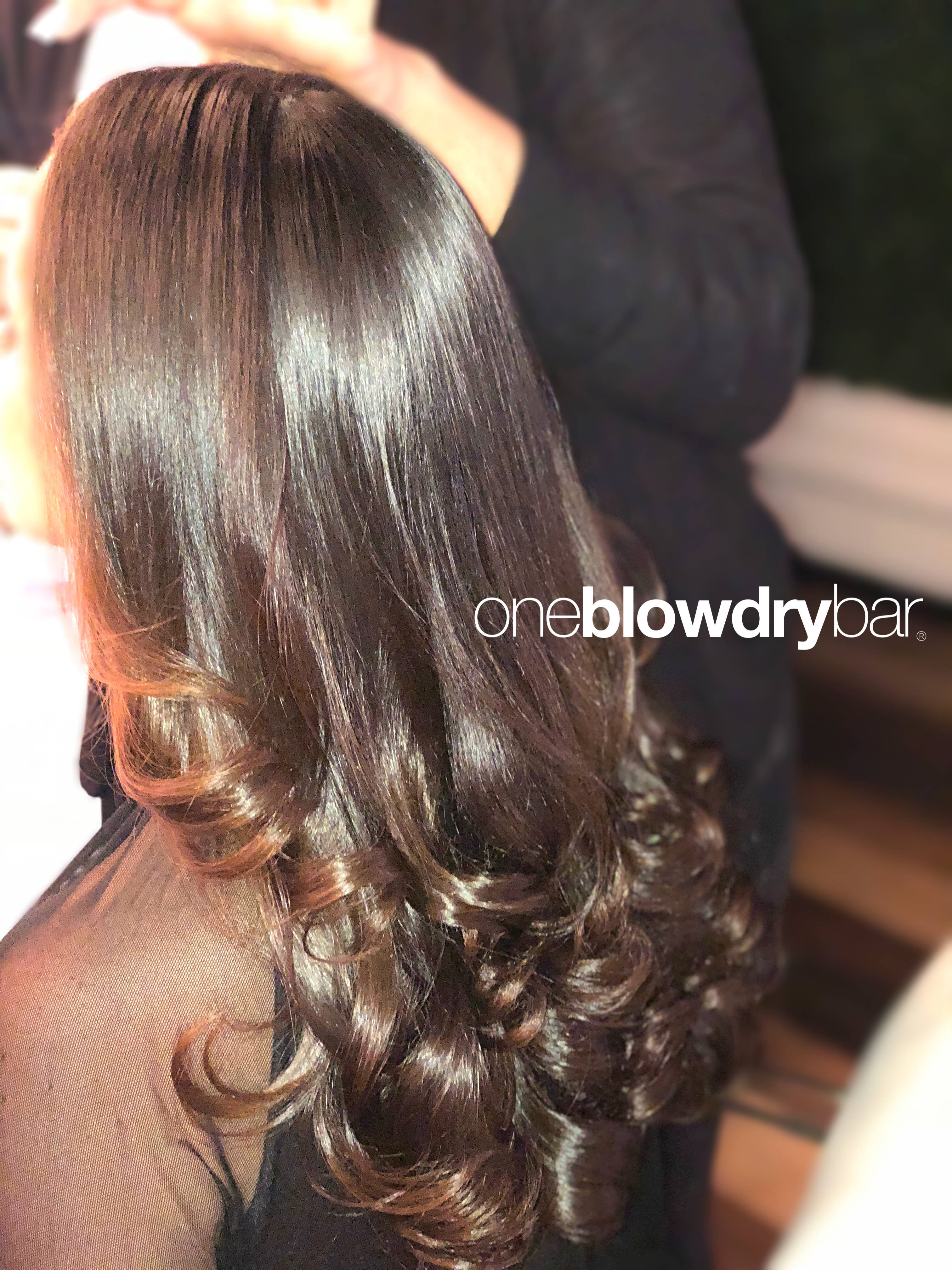 Customer Blow Dry Blow Out Hair Styling From The Popular Blow Dry Brand Oneblowdrybar Red Bank Blow Dry Hair Curls Blowout Hair Blow Dry Hair