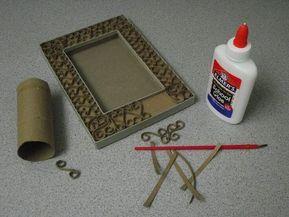 Tuvalet Kağıdı Rulosundan Resim Çerçevesi Yapımı