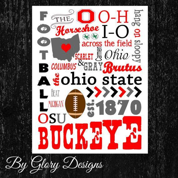 Printable, Ohio printable, Ohio State Buckeyes Printable