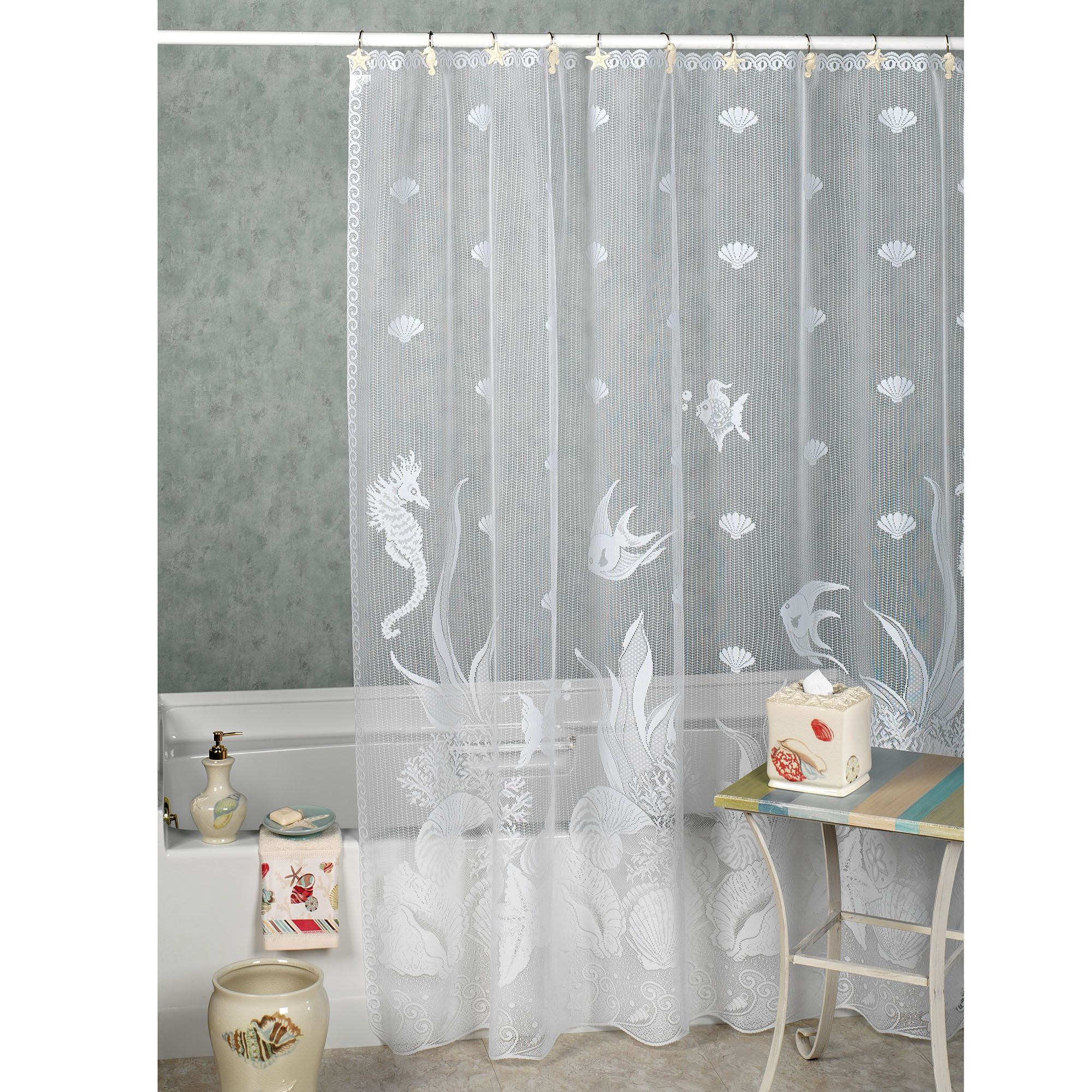 Seascape Shower Curtain Beach Shower Curtains Beach Theme
