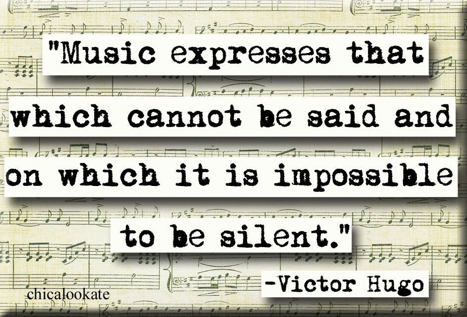 Victor Hugo Music  Quote Magnet (no.301)