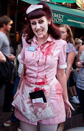 halloween parties zombie waitress - Zombies Pictures For Halloween