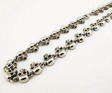 Half Skull Biker Necklace - 21 inch