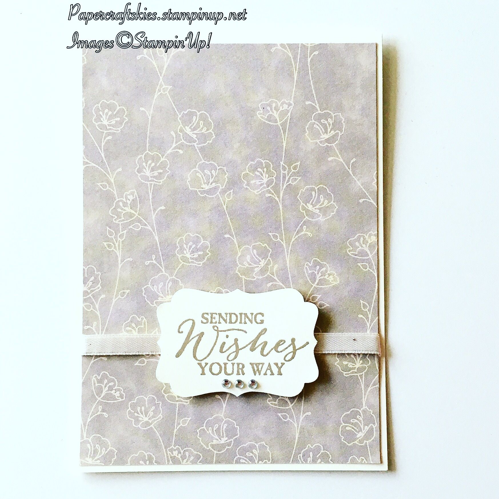 Stampin Up! A neutral card today using falling in love dsp and