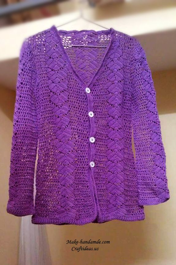 Crochet lace summer and spring jacket and cardigan for ladies ...